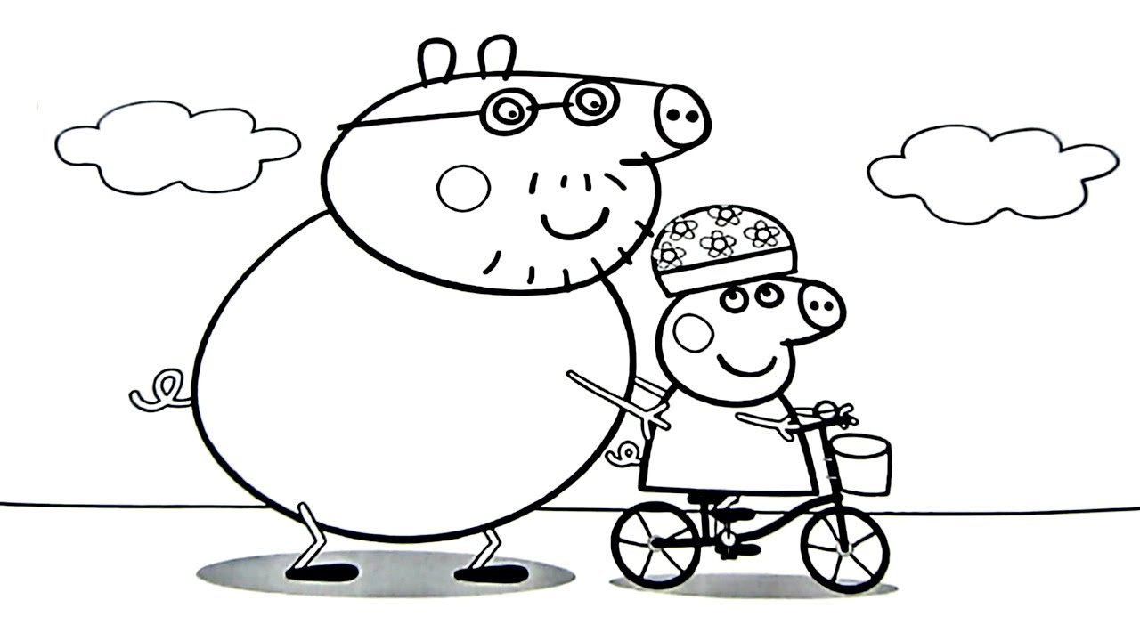 Daddy Coloring Pages Peppa Pig Daddy Pig Coloring Book Coloring Pages Kids Fun Art Fun Time