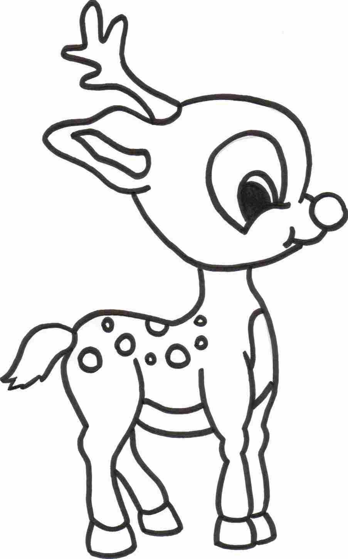Deer Coloring Pages Free Printable Reindeer Coloring Pages For Kids