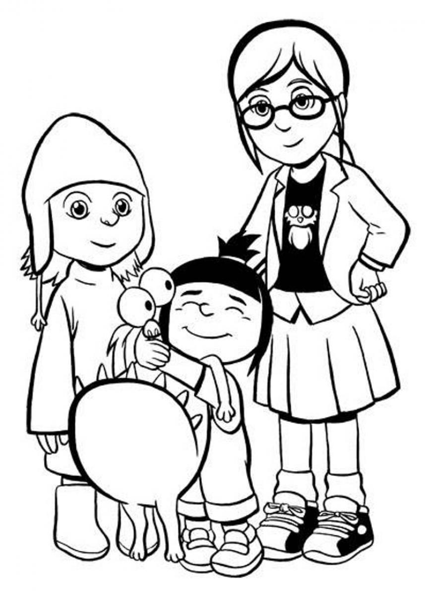 Despicable Coloring Pages Despicable Me Coloring Pages Free Printable Coloring Sheets For Kids