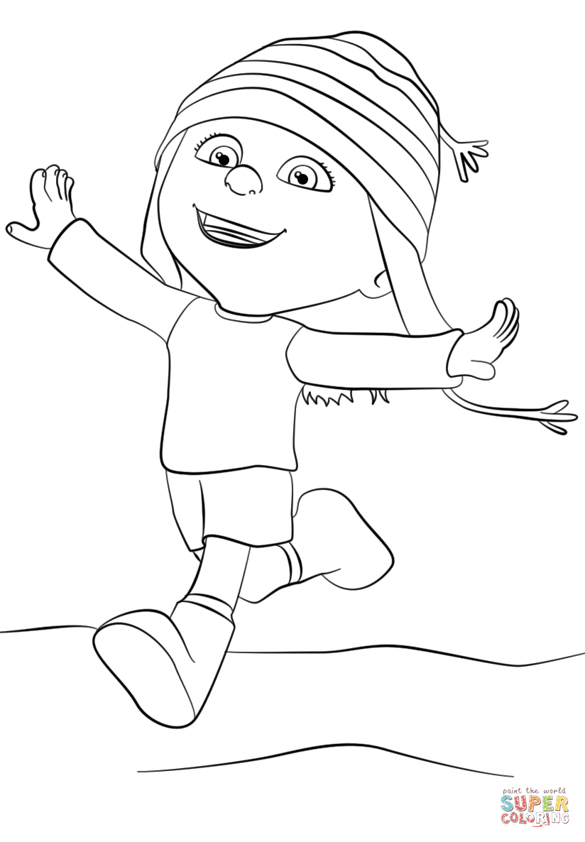 Despicable Coloring Pages Despicable Me Edith Coloring Page Free Printable Coloring Pages