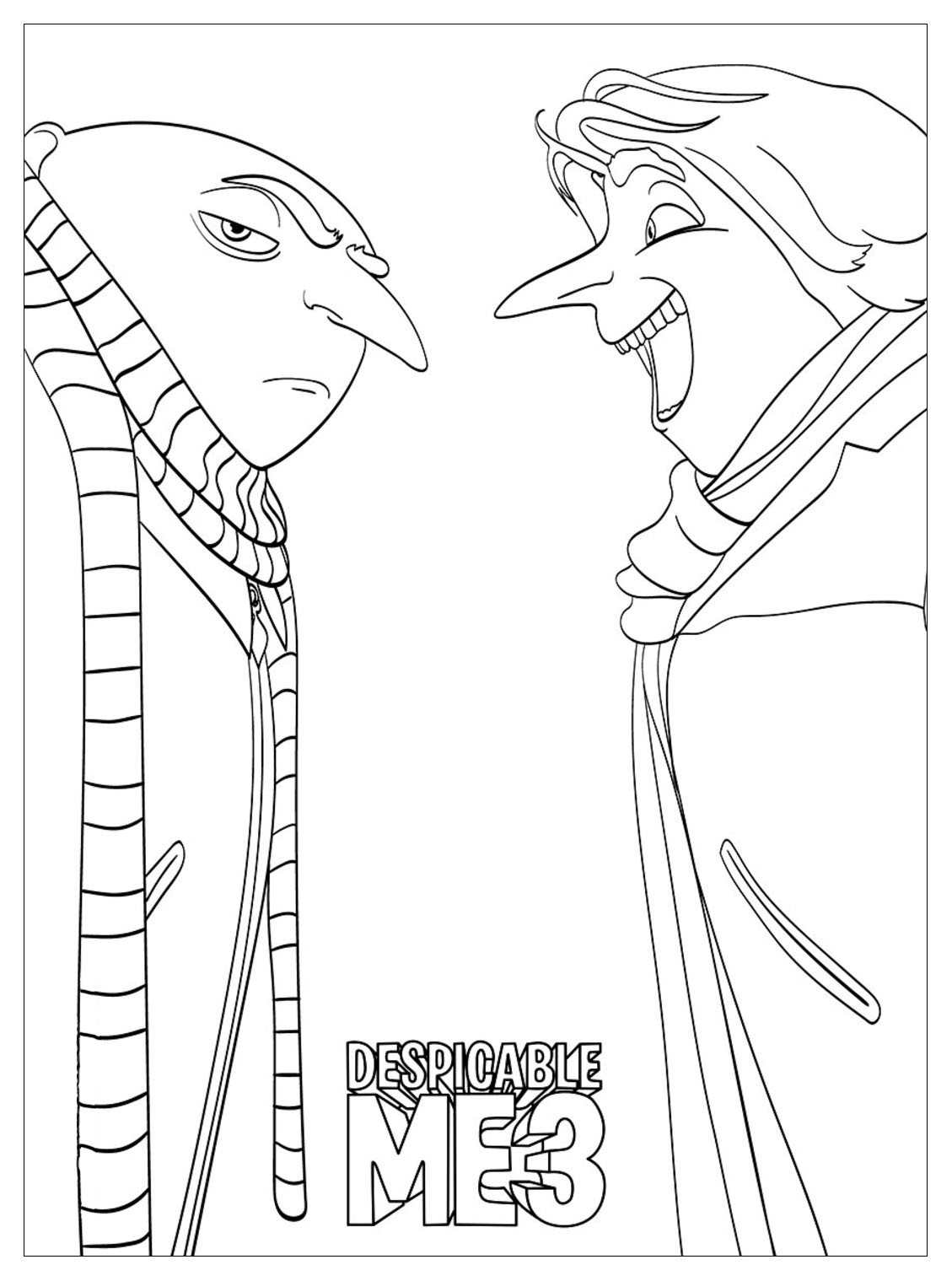 Despicable Coloring Pages Despicable Me To Print For Free Despicable Me Kids Coloring Pages