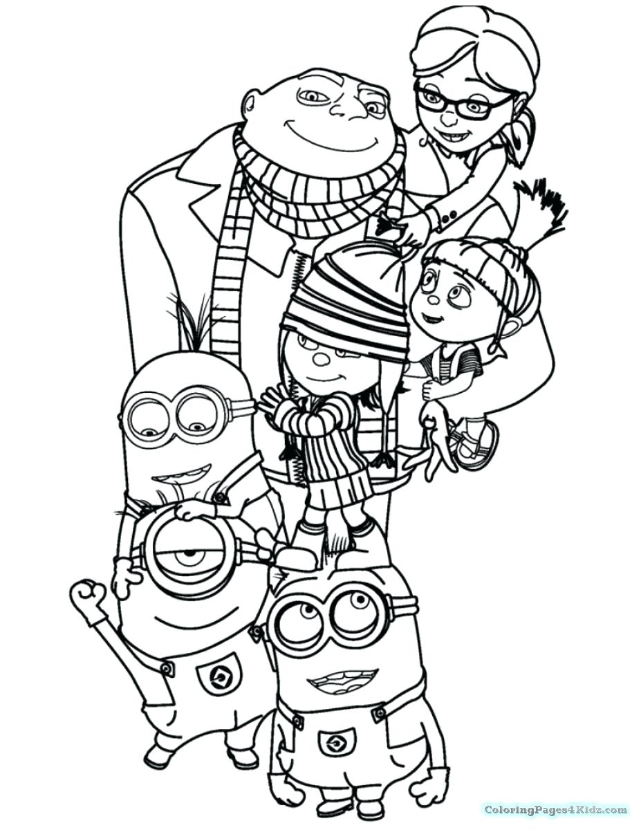Despicable Coloring Pages Free Coloring Pages Minions Bestofpageco