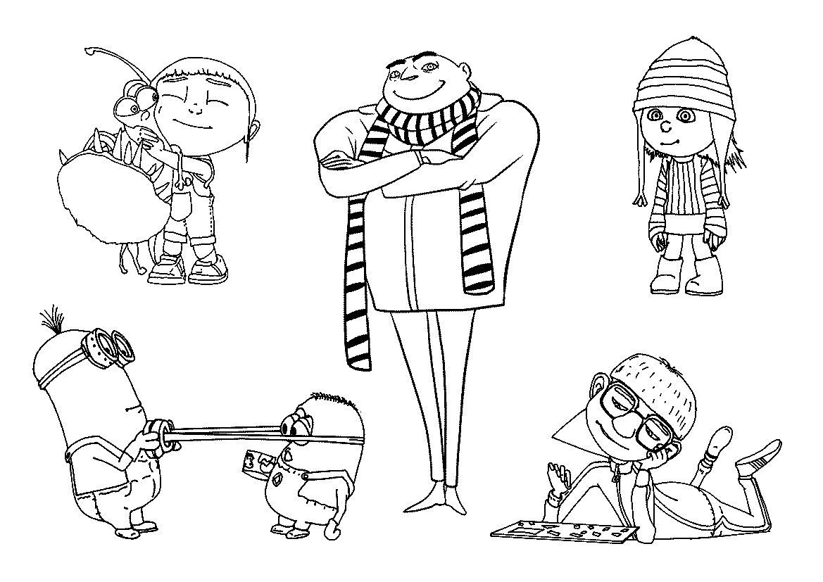 Despicable Coloring Pages Free Printable Despicable Me Coloring Pages For Kids