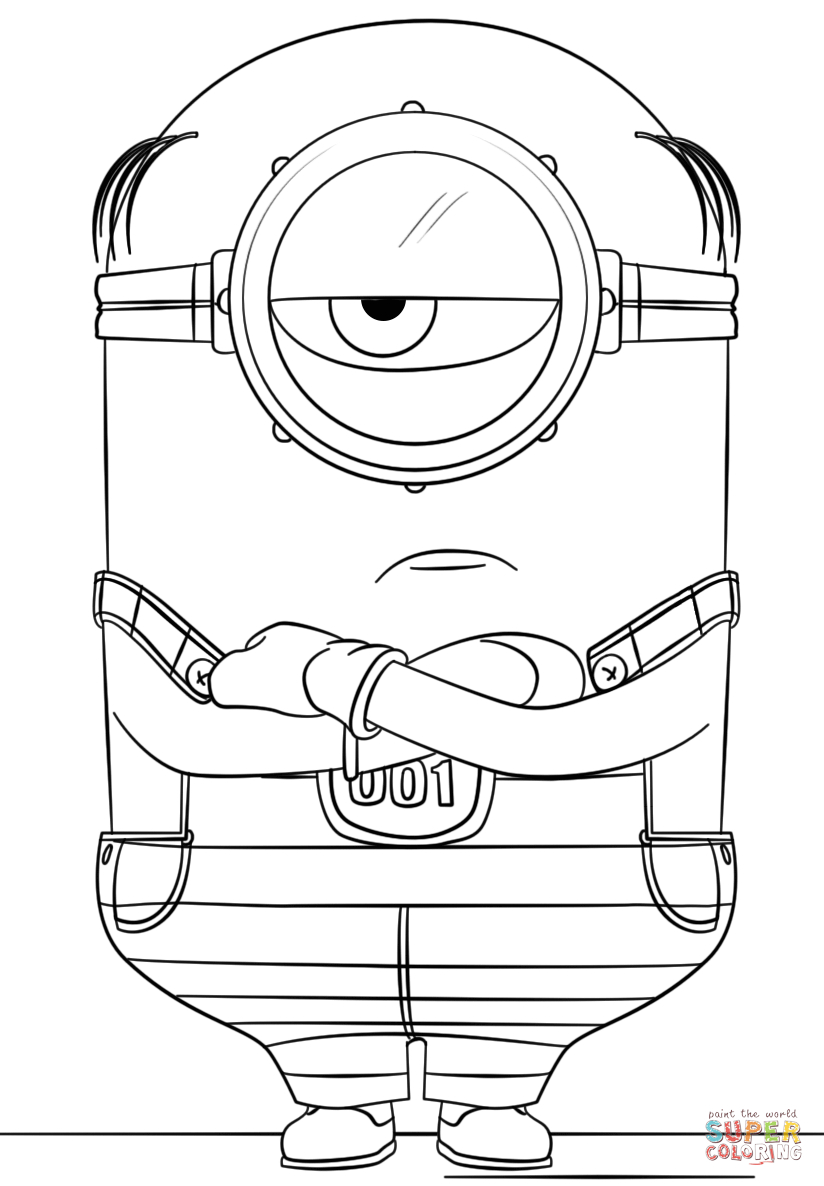 Despicable Coloring Pages Minion Mel From Despicable Me 3 Coloring Page Free Printable