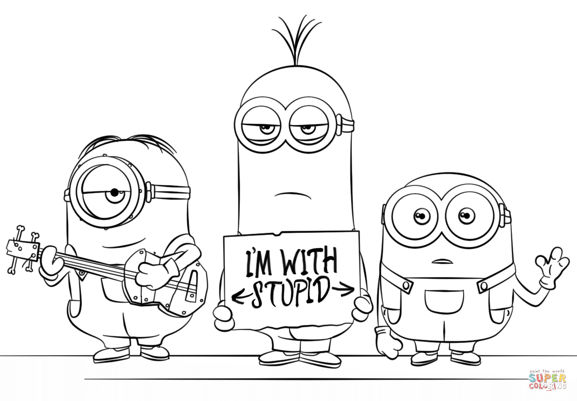 Despicable Coloring Pages Minions From Despicable Me 3 Coloring Page Free Printable Coloring