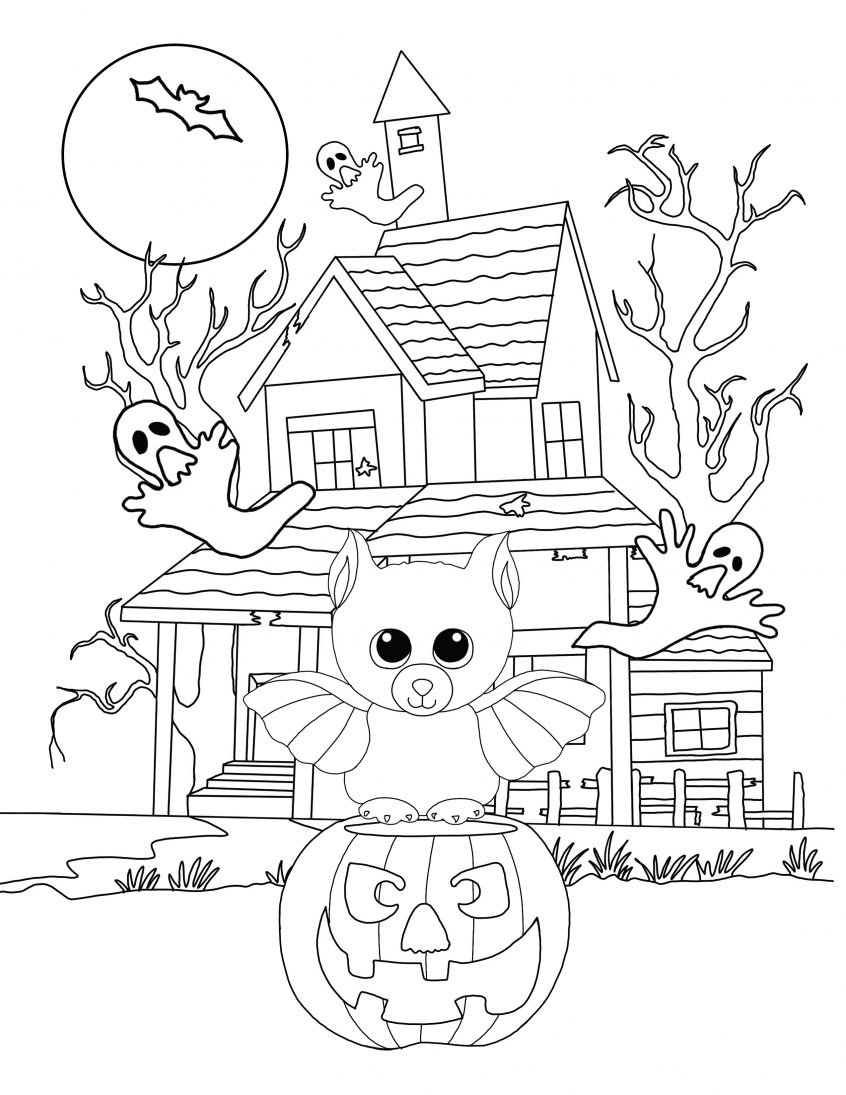 Disney Color By Number Printable Pages Coloring Beanie Boo Halloween Coloring Page Bat Princess Pictures
