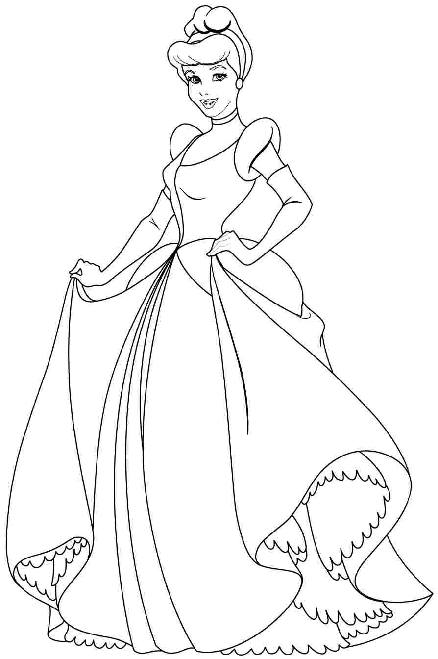 Disney Color By Number Printable Pages Coloring Pages Disney Princess Cindirella Coloring Page Cinderella