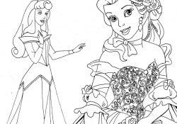 Disney Princess Coloring Pages Printable Free Printable Disney Princess Coloring Pages For Kids