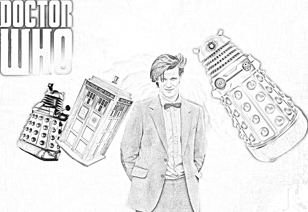 Doctor Who Coloring Page 7 Free Doctor Who Fan Art Coloring Books Plus Bonus Coloring Pages