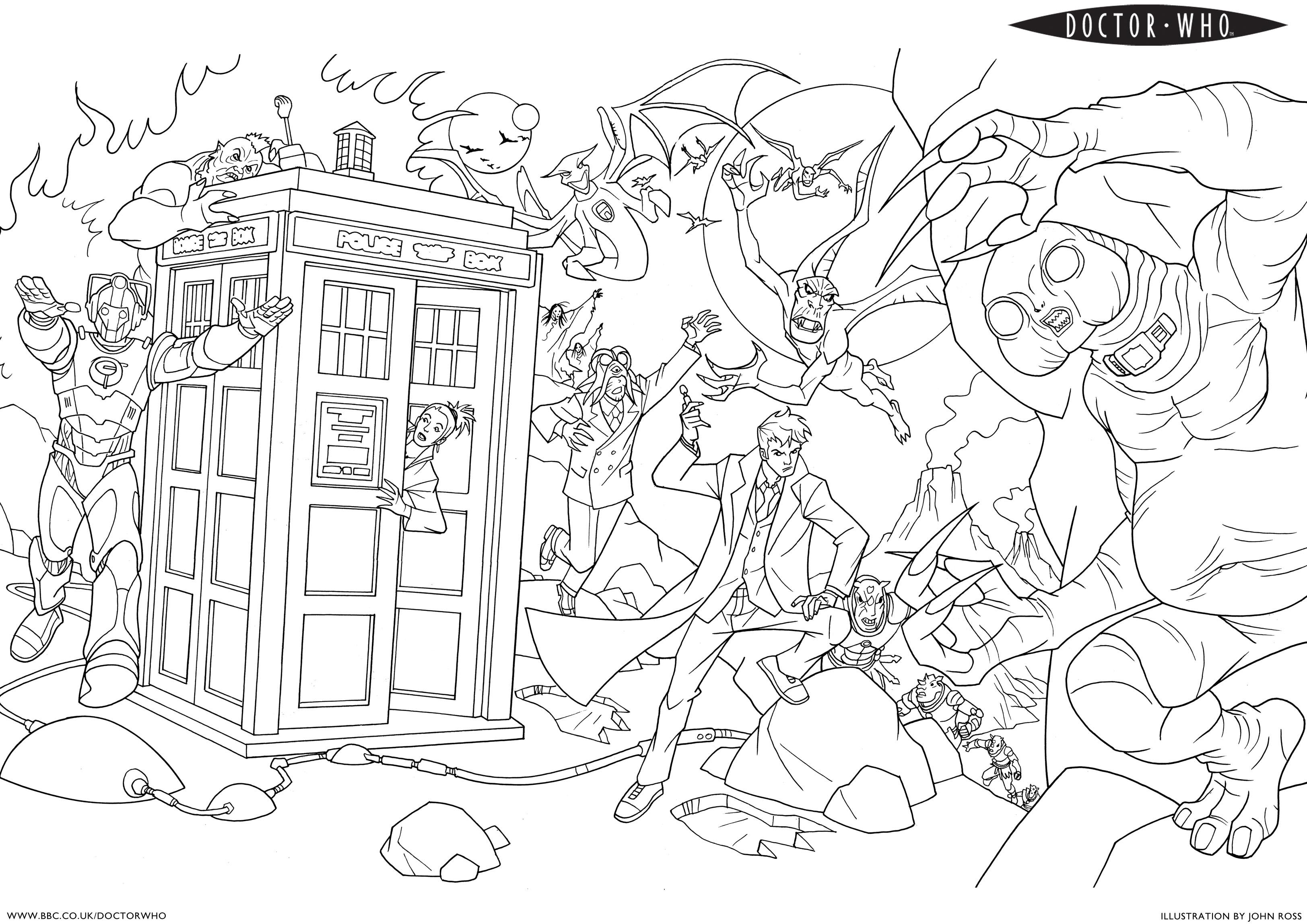 Doctor Who Coloring Page Coloring Ideas Astonishing Dr Who Coloring Pages Image