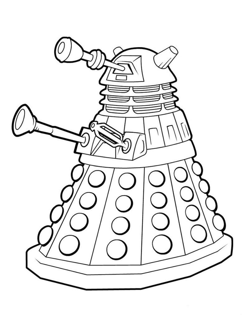 Doctor Who Coloring Page Dalek Coloring Page Doctor Who Amino