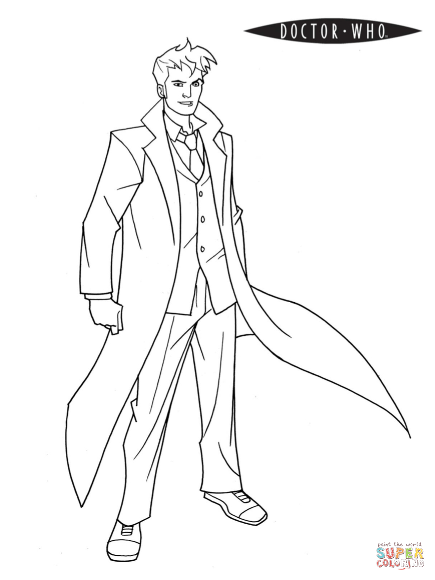 Doctor Who Coloring Page Doctor Who Coloring Page Free Printable Coloring Pages