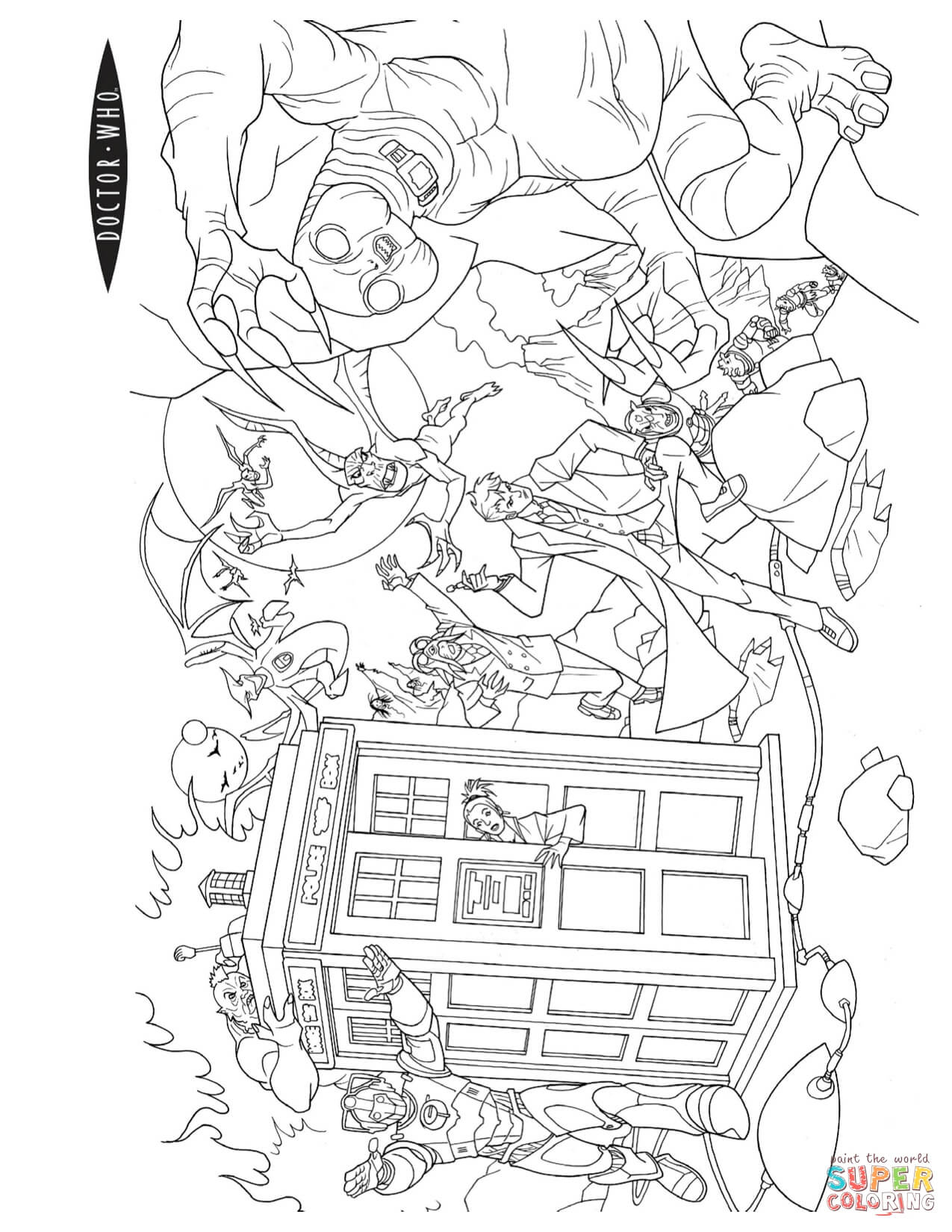 Doctor Who Coloring Page Doctor Who Coloring Pages Free Coloring Pages