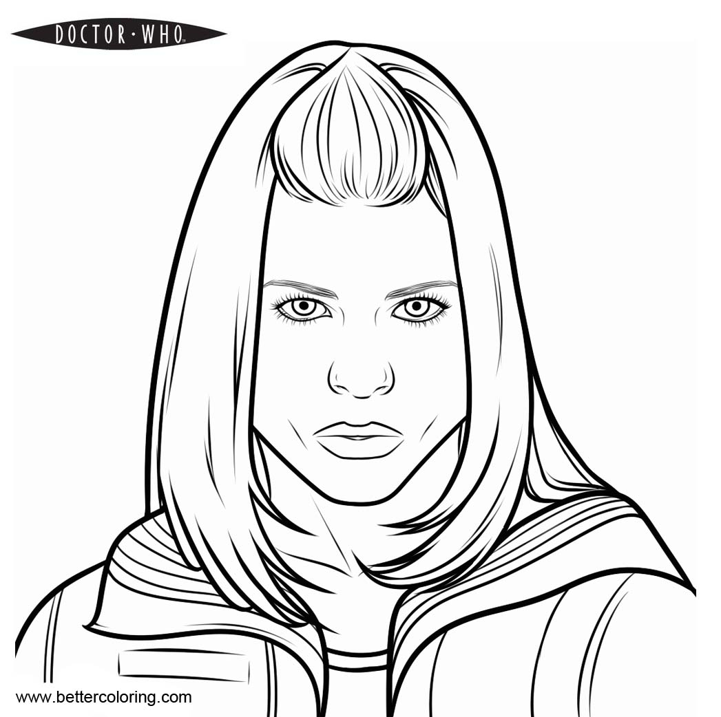 Doctor Who Coloring Page Doctor Who Coloring Pages Rose Free Printable Coloring Pages