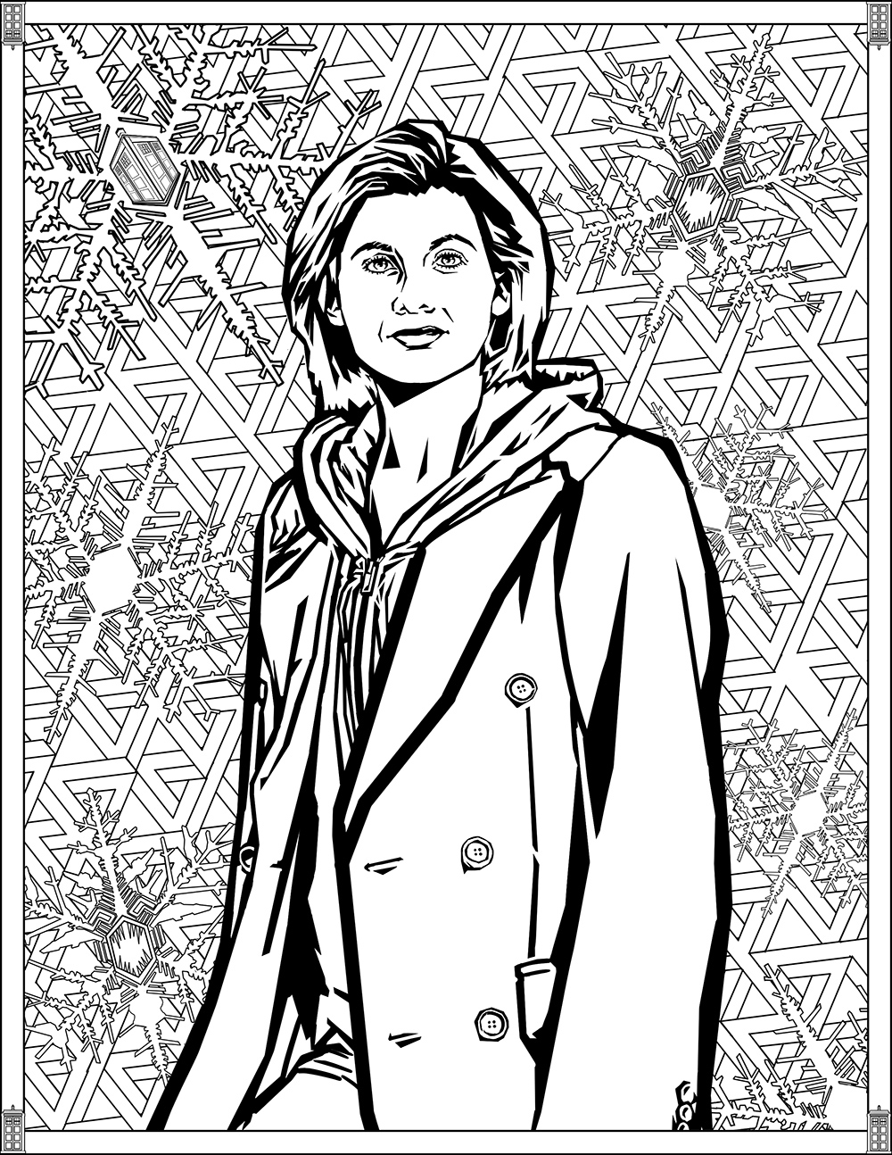 Doctor Who Coloring Page Doctor Who Pages Thirteenth Doctor Tv Shows Adult Coloring Pages