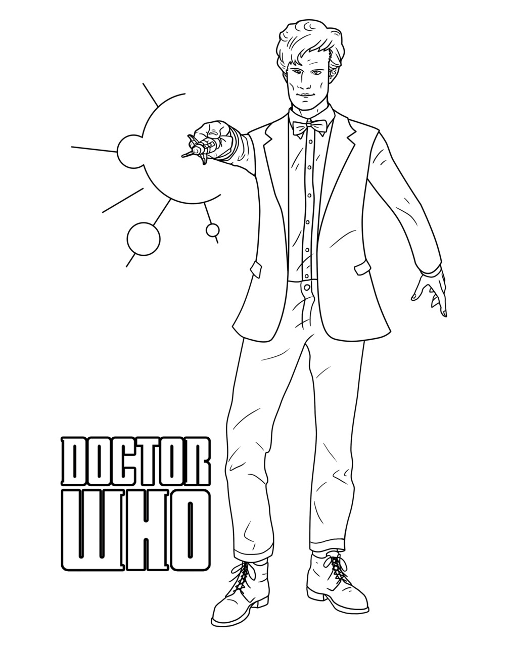 Doctor Who Coloring Page Free Printable Doctor Who Coloring Pages At Getdrawings Free