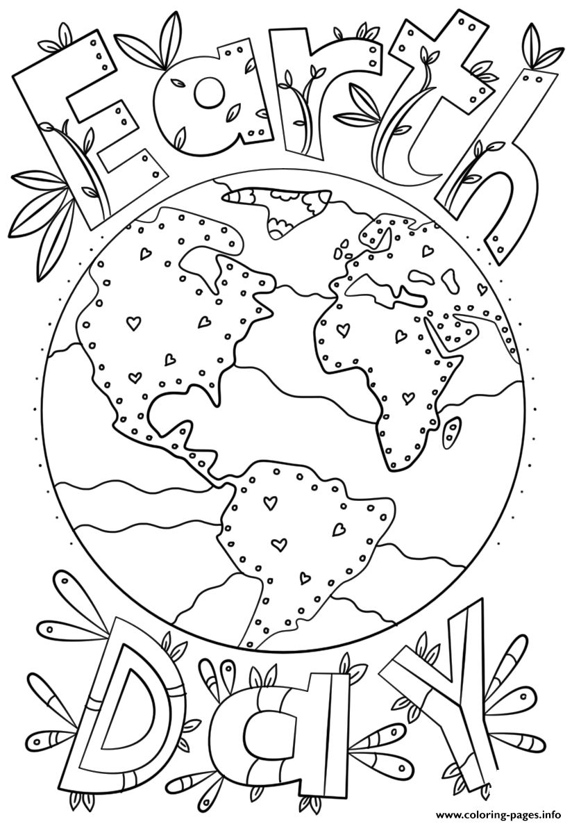 Earth Day Coloring Pages Coloring Earth Day Coloring Pages Free Inspirational Color Sheet