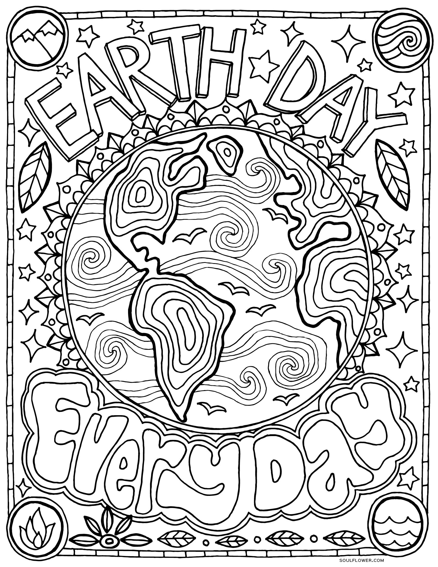 Earth Day Coloring Pages Coloring Ideas Free Earth Day Coloring Pages Page Diy Crafts Ideas