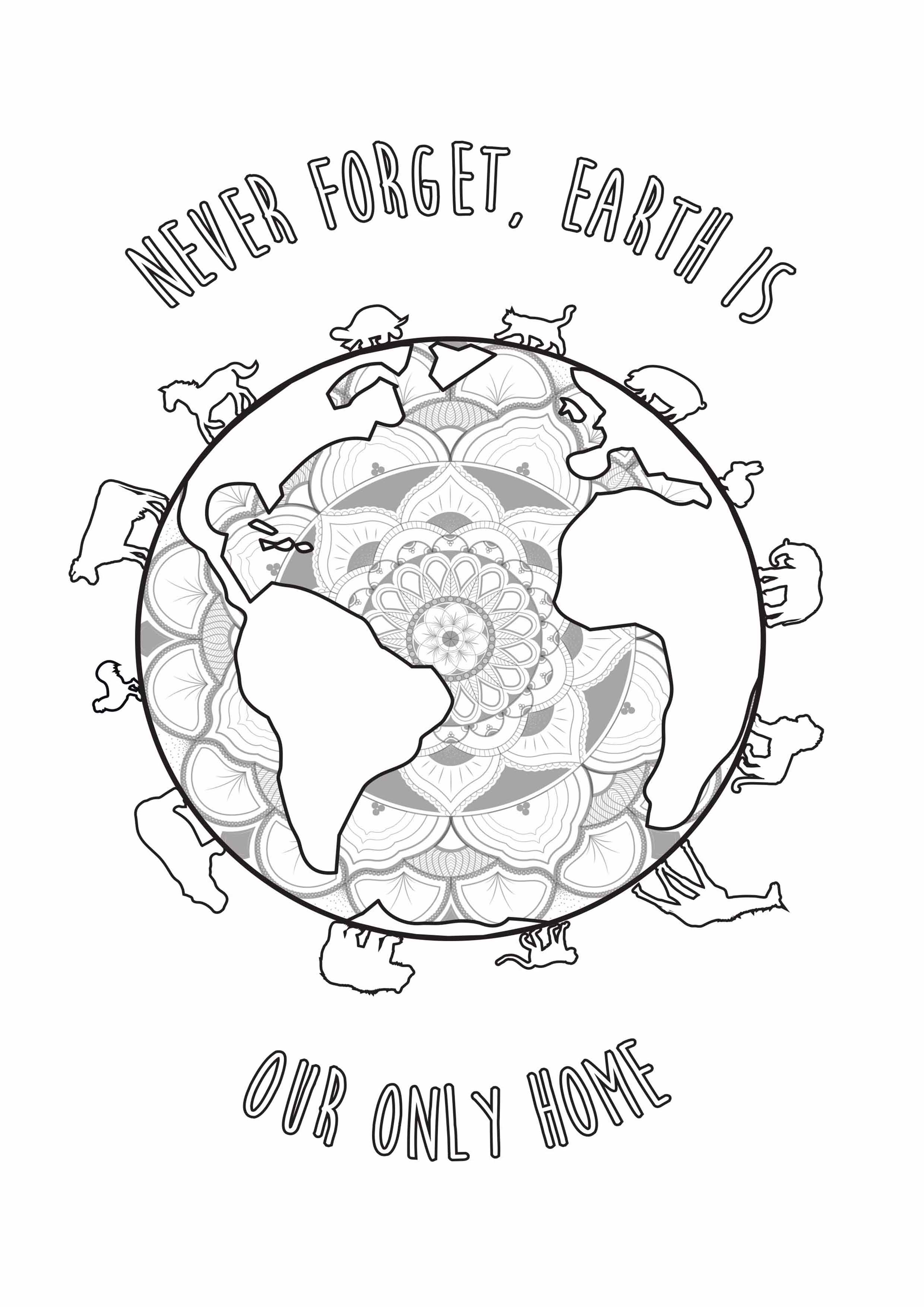 Earth Day Coloring Pages Earth Day Louise Earth Day Adult Coloring Pages
