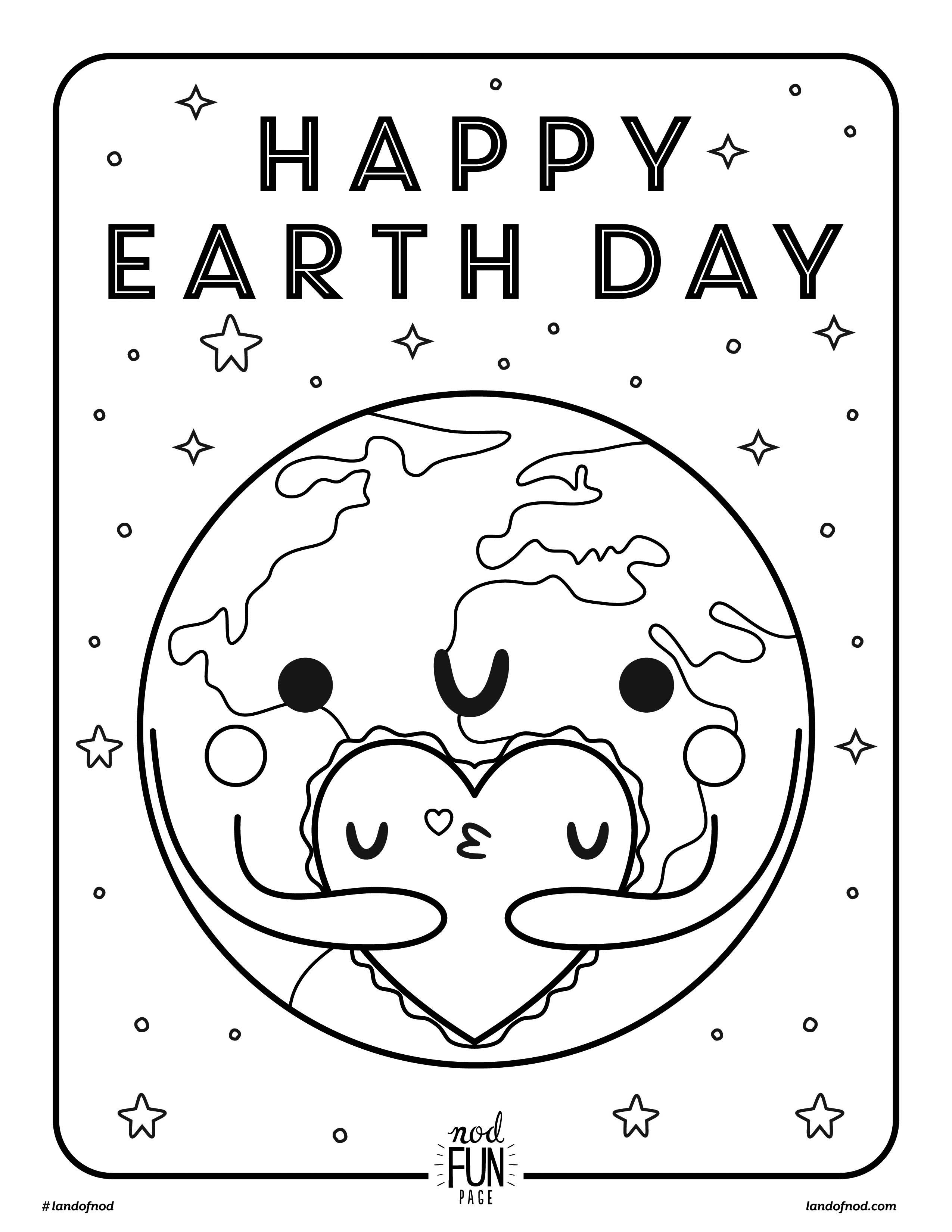 Earth Day Coloring Pages Free Printable Coloring Page Earth Day Cratekids Blog