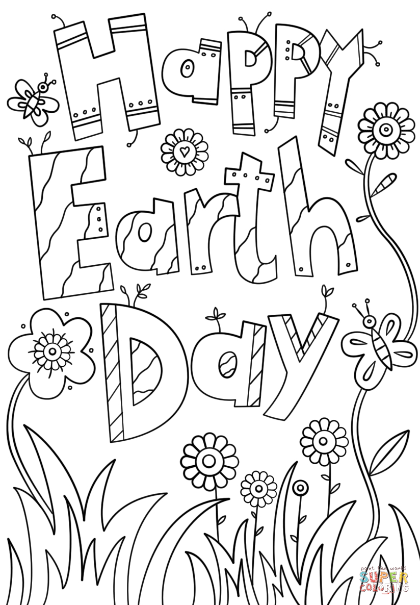 Earth Day Coloring Pages Happy Earth Day Coloring Page Free Printable Coloring Pages