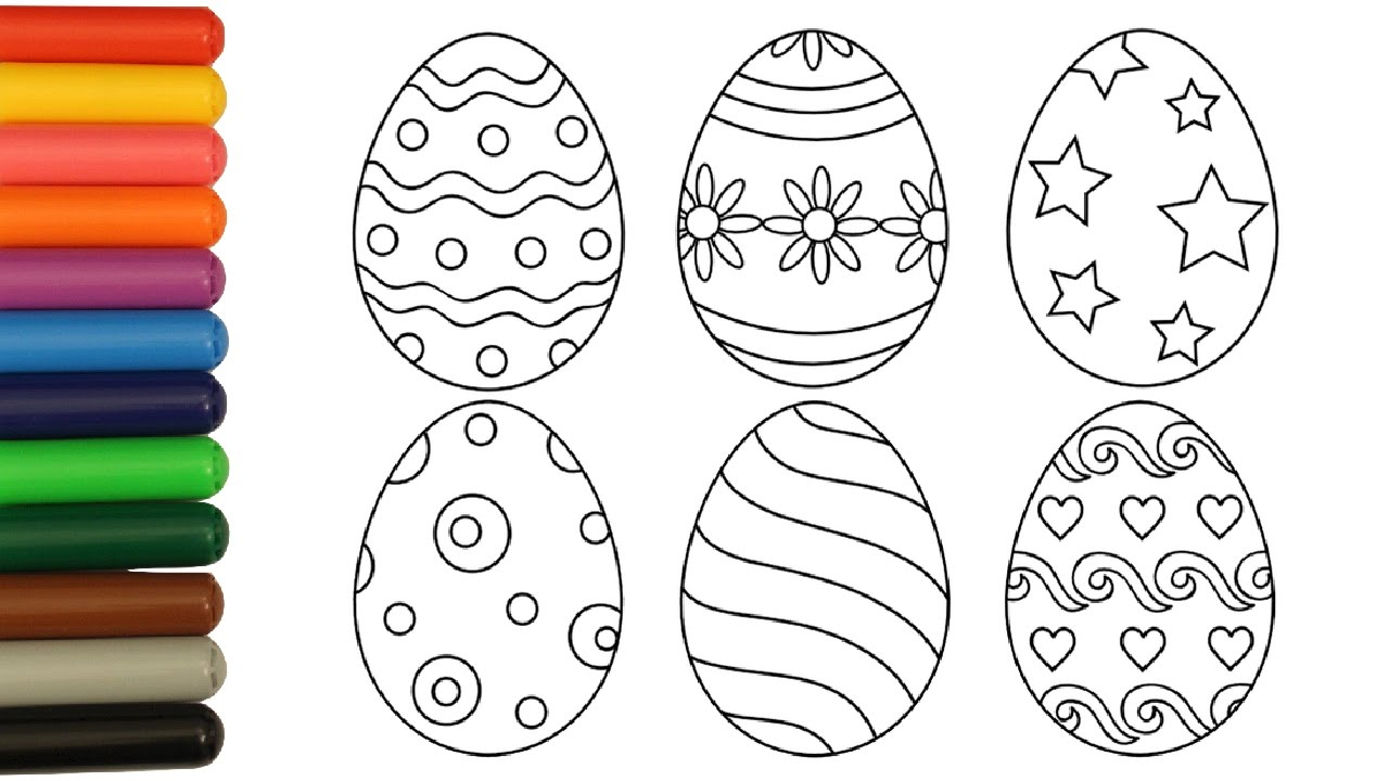 Easter Egg Coloring Page Coloring Pages Easter Eggs Coloring Video For Kids