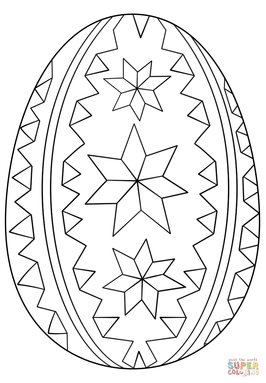 Easter Egg Coloring Page Ornate Easter Egg Coloring Page Free Printable Coloring Pages