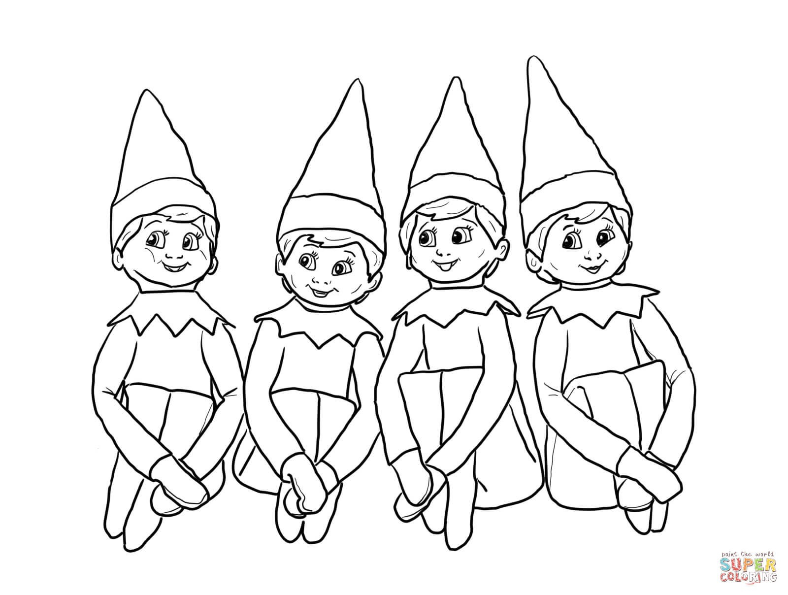 Elf Coloring Pages Printable Coloring Ideas Elf Coloring Pages Printable Ideas Christmas