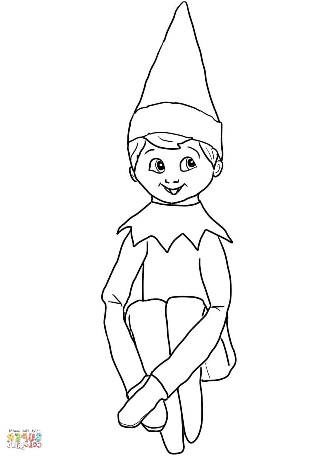 Elf Coloring Pages Printable Coloring Ideas Elf Coloring Pages Printable On Theelf For Kids