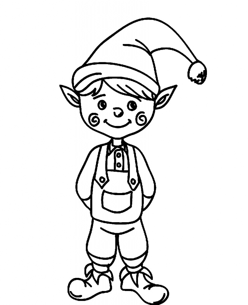 Elf Coloring Pages Printable Elf Coloring Pages Free Download Best Elf Coloring Pages On