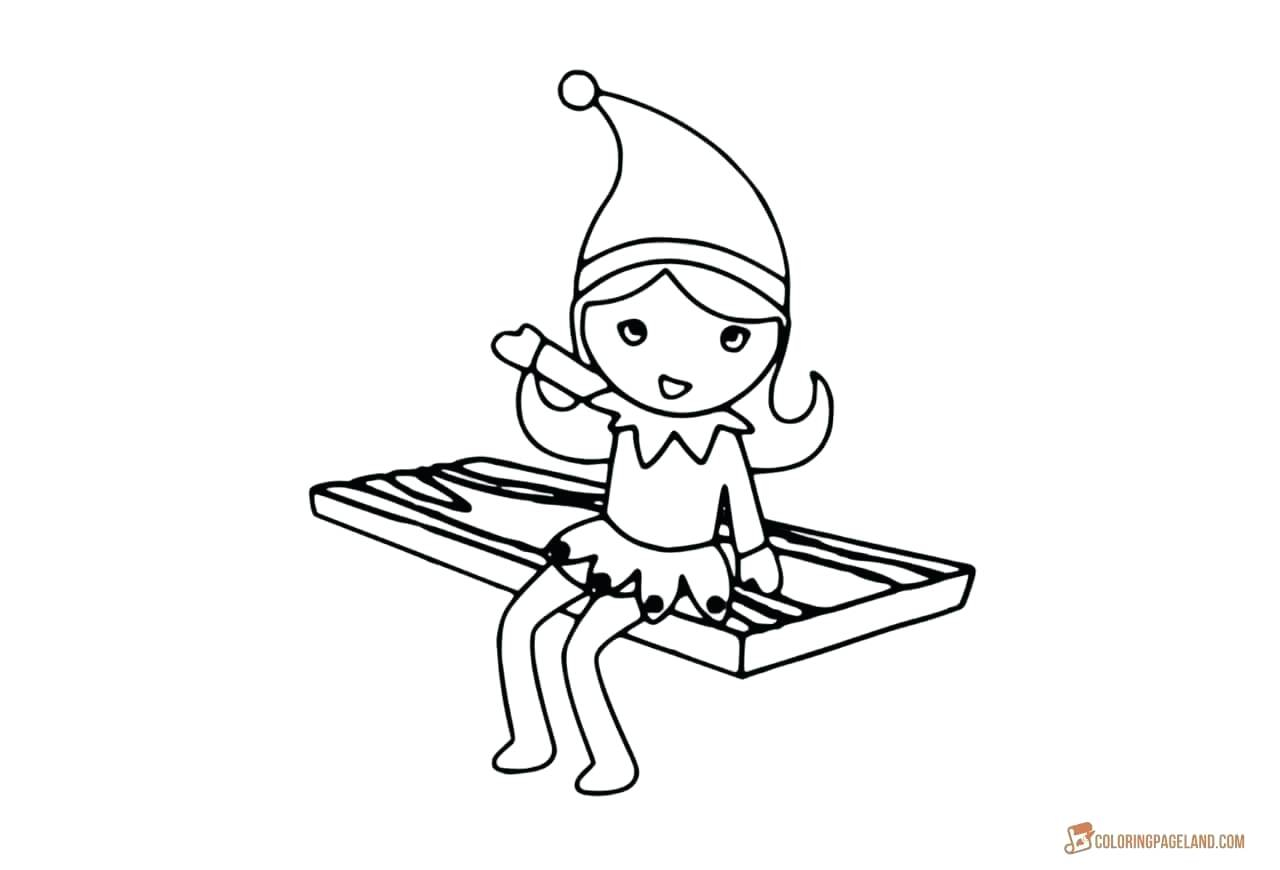 Elf Coloring Pages Printable Elf Coloring Pages Girl Adaptpaperco