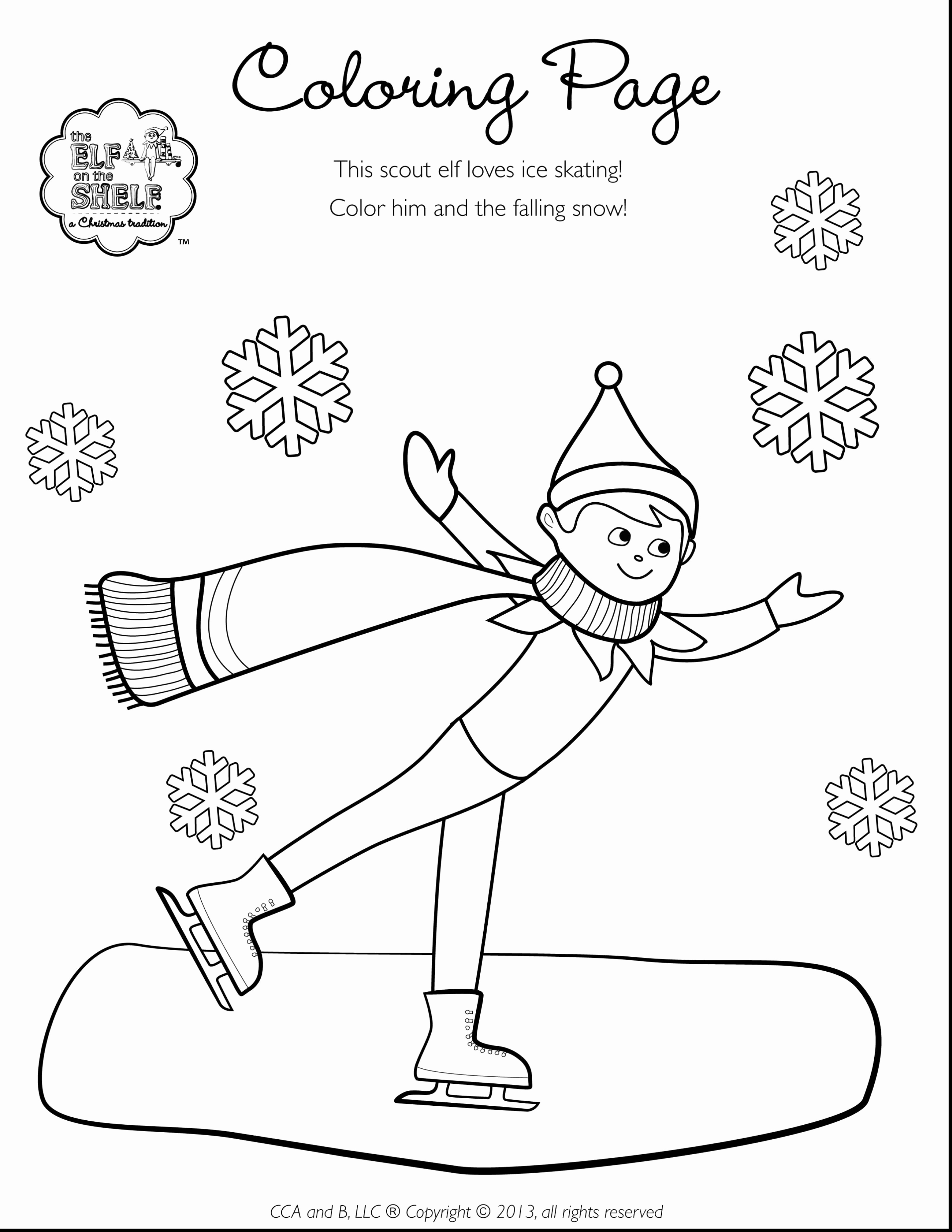 Elf Coloring Pages Printable Elf On The Shelf Coloring Pages At Getdrawings Free For