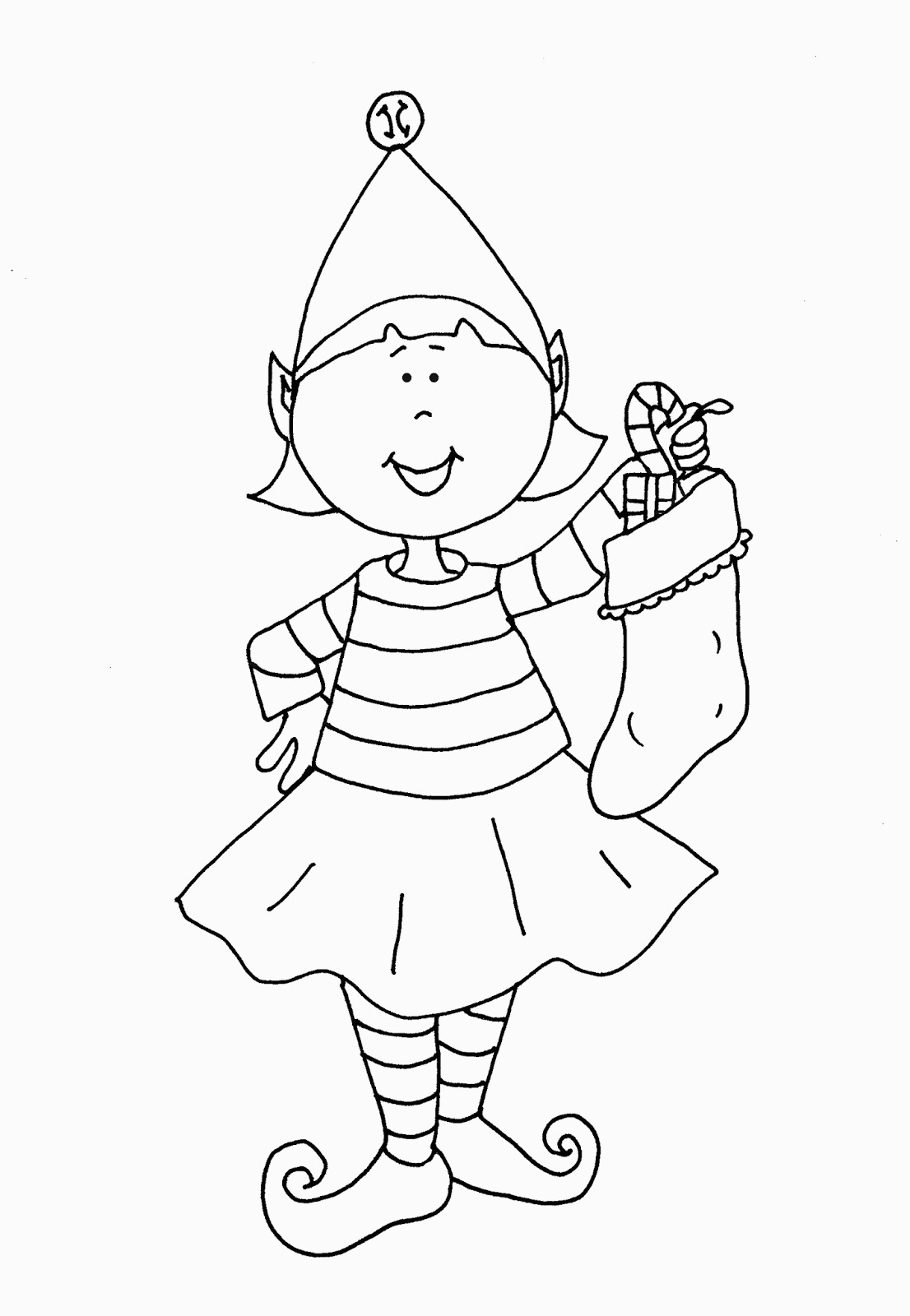 Elf Coloring Pages Printable Printable Girl Elf The Shelf Coloring Pages Coloring Home For Elf