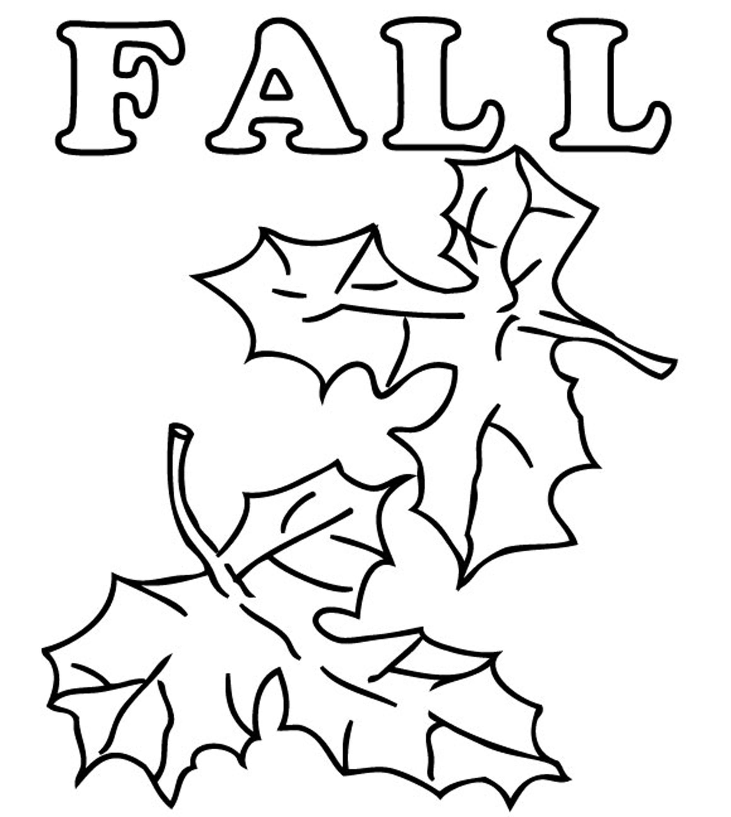 Fall Color Page Collection Fall Coloring Pages For Pre K Pictures Sabadaphnecottage