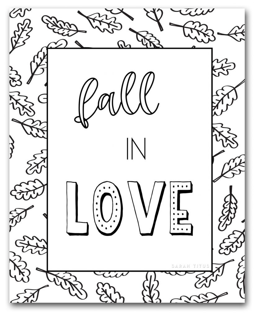 Fall Color Page Free Fall Coloring Pages To Color Sarah Titus