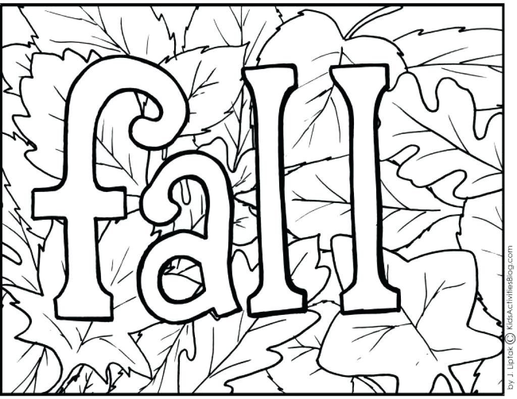 Fall Color Page Preschool Fall Coloring Page Fall Coloring Pages For Kids Preschool