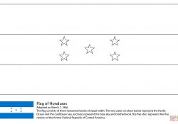 Flag Of Honduras Coloring Page Flag Of Honduras Coloring Page Free Printable Coloring Pages
