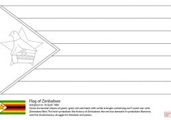 Flag Of Zimbabwe Coloring Page Flag Of Zimbabwe Coloring Page Free Printable Coloring Pages
