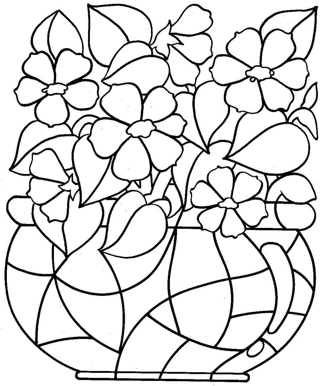 Flowers Coloring Pages Free Printable 20 Free Printable Flower Coloring Pages Images Free Coloring Pages
