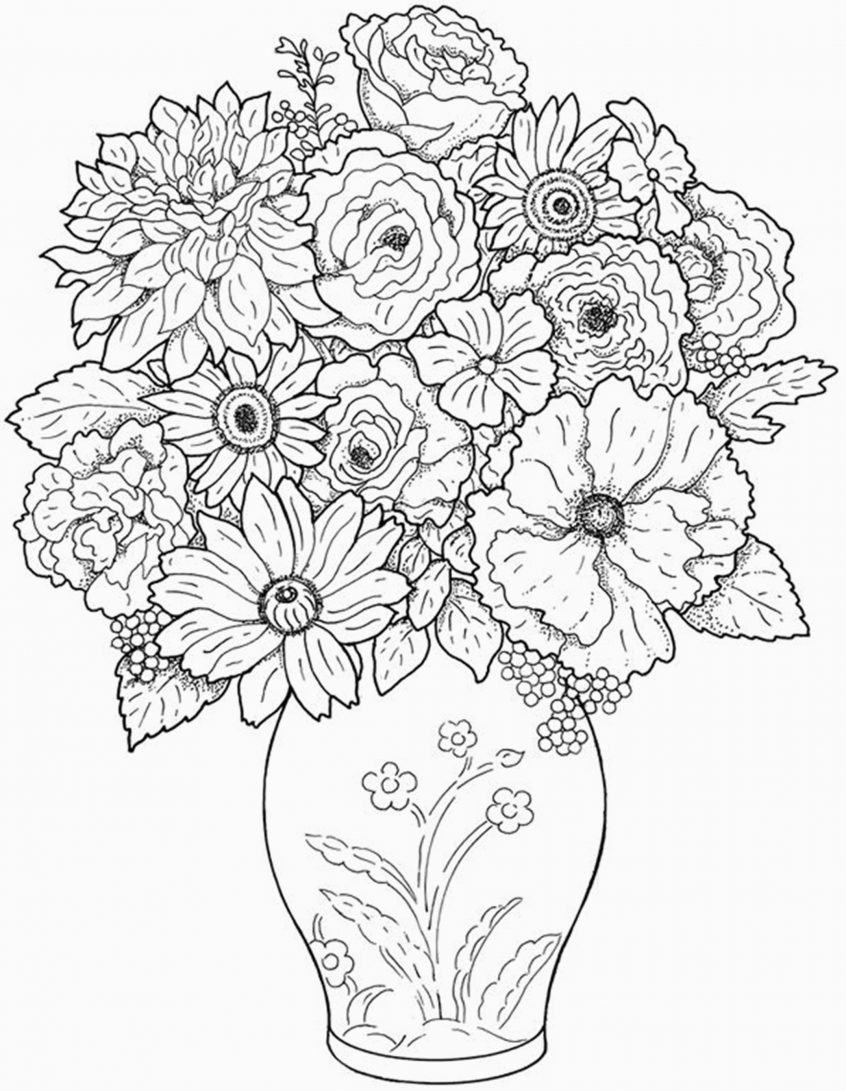 Flowers Coloring Pages Free Printable Coloring Freerintable Flower Coloringages For Kids Bestrintables Of
