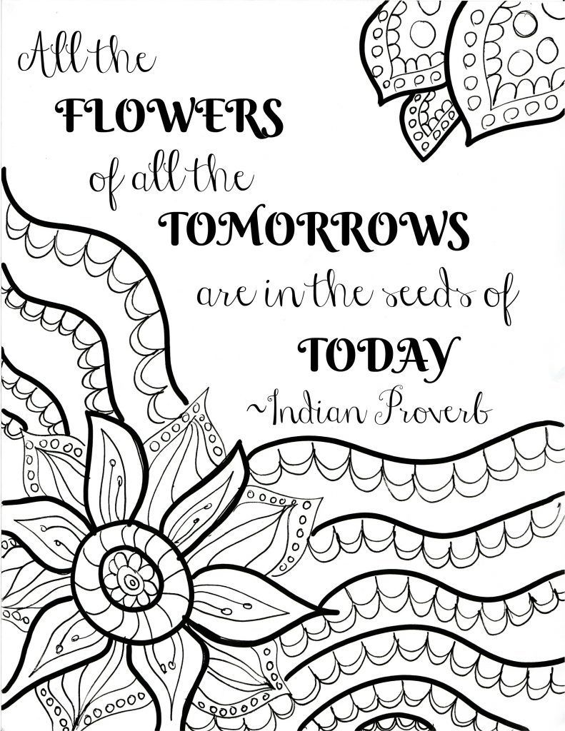 Flowers Coloring Pages Free Printable Coloring Ideas Coloring Ideas Quote Sheets Free Printable Flower