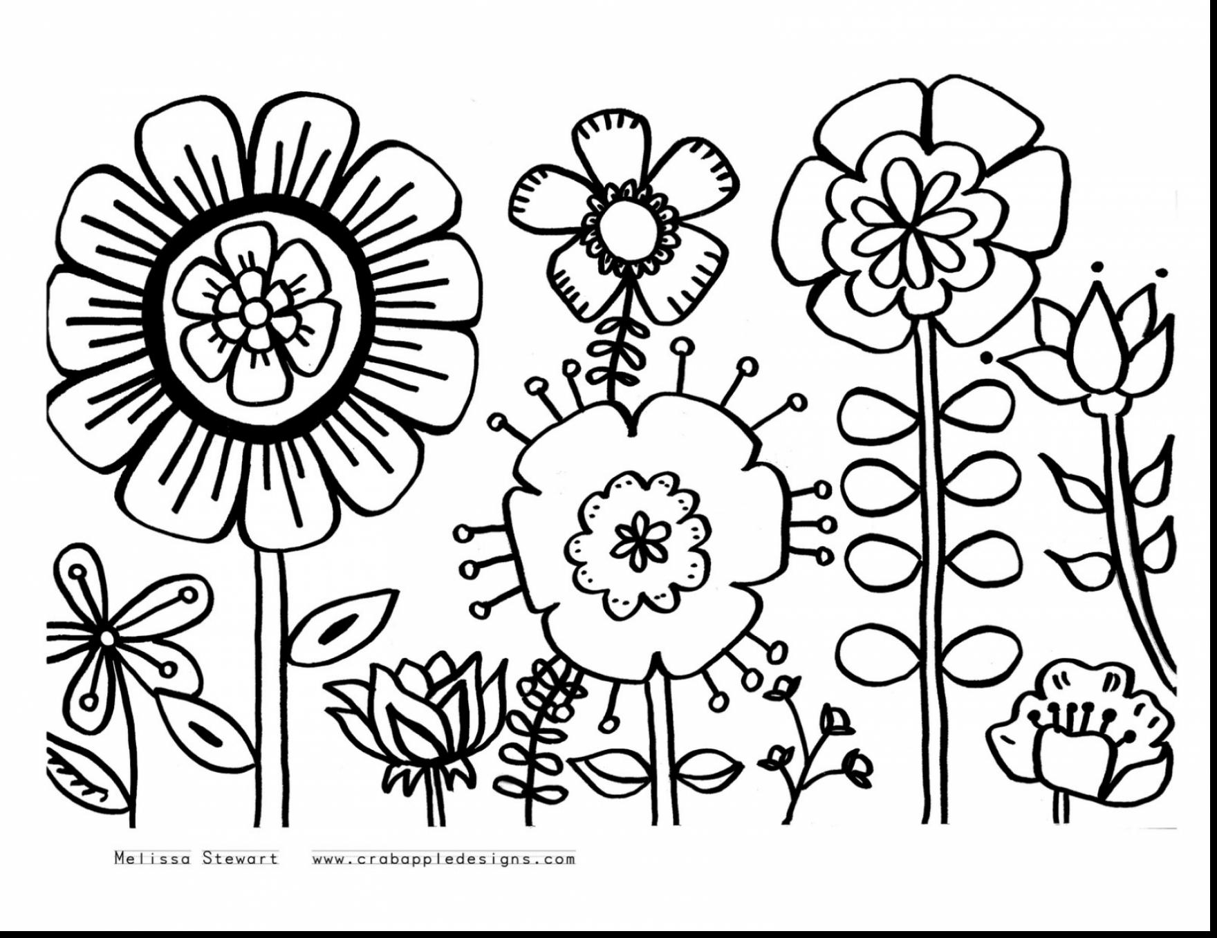 Flowers Coloring Pages Free Printable Flower Coloring Pages For Kids To Print With Appealing Fabulous