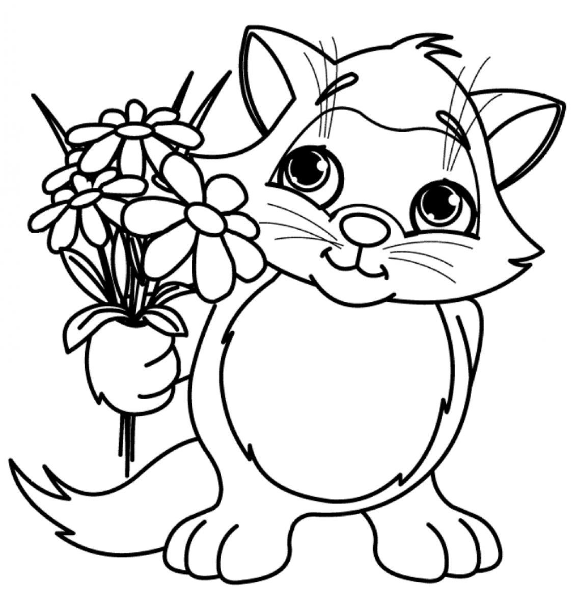 Flowers Coloring Pages Free Printable Flower Coloring Pages Free Download Best Flower Coloring Pages On