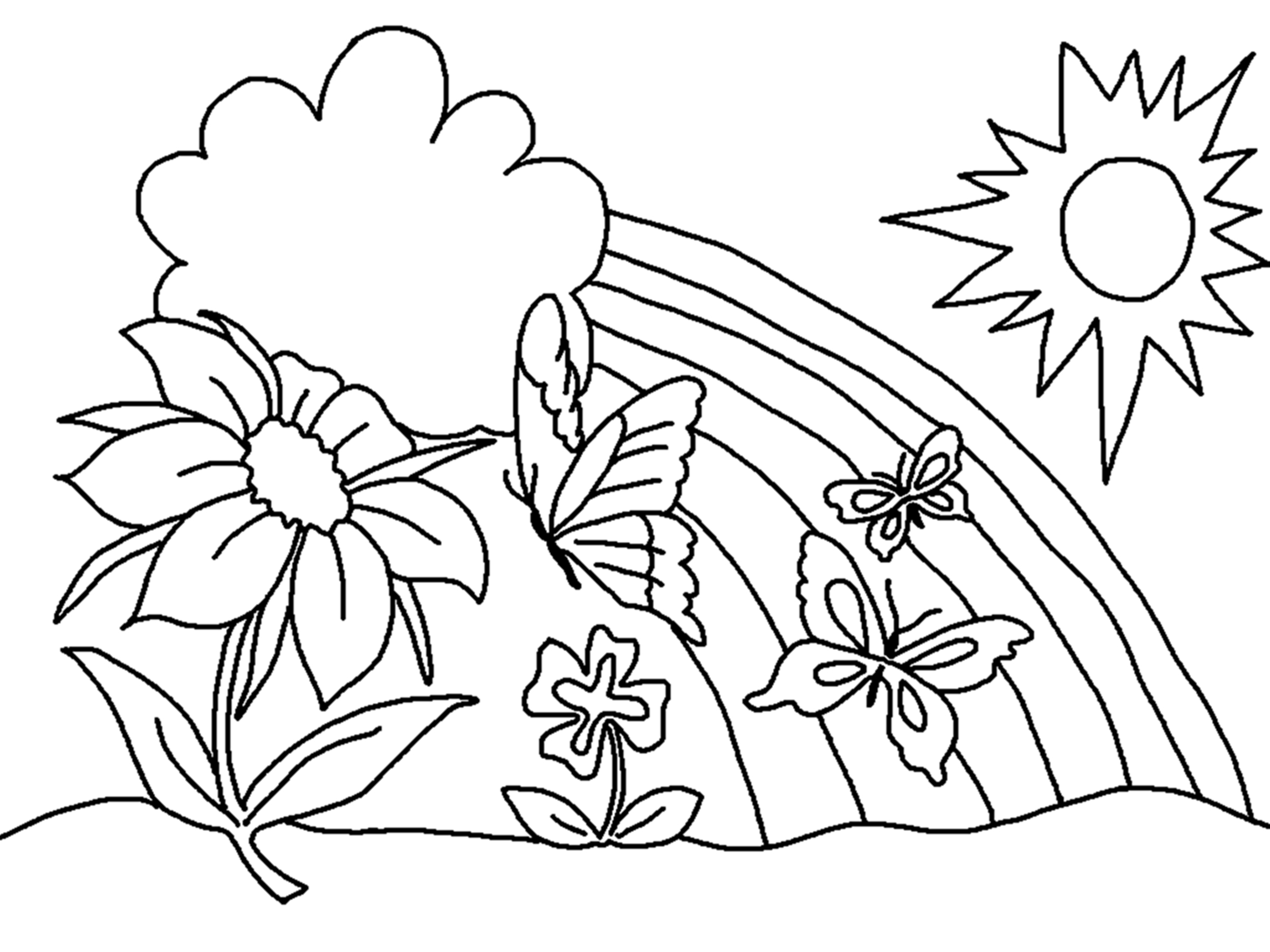Flowers Coloring Pages Free Printable Free Printable Flower Coloring Pages For Kids Best Coloring Pages