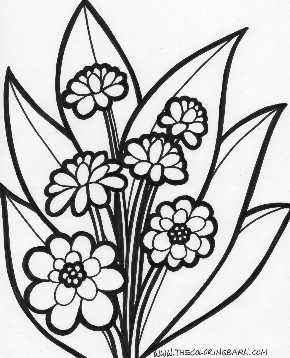 Flowers Coloring Pages Free Printable Printable Coloring Pages Free Download Best Printable Coloring