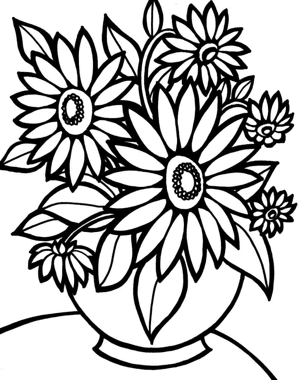 Flowers Coloring Pages Free Printable Printable Flower Coloring Pages For Girls 14 N Colouring Pages Photo