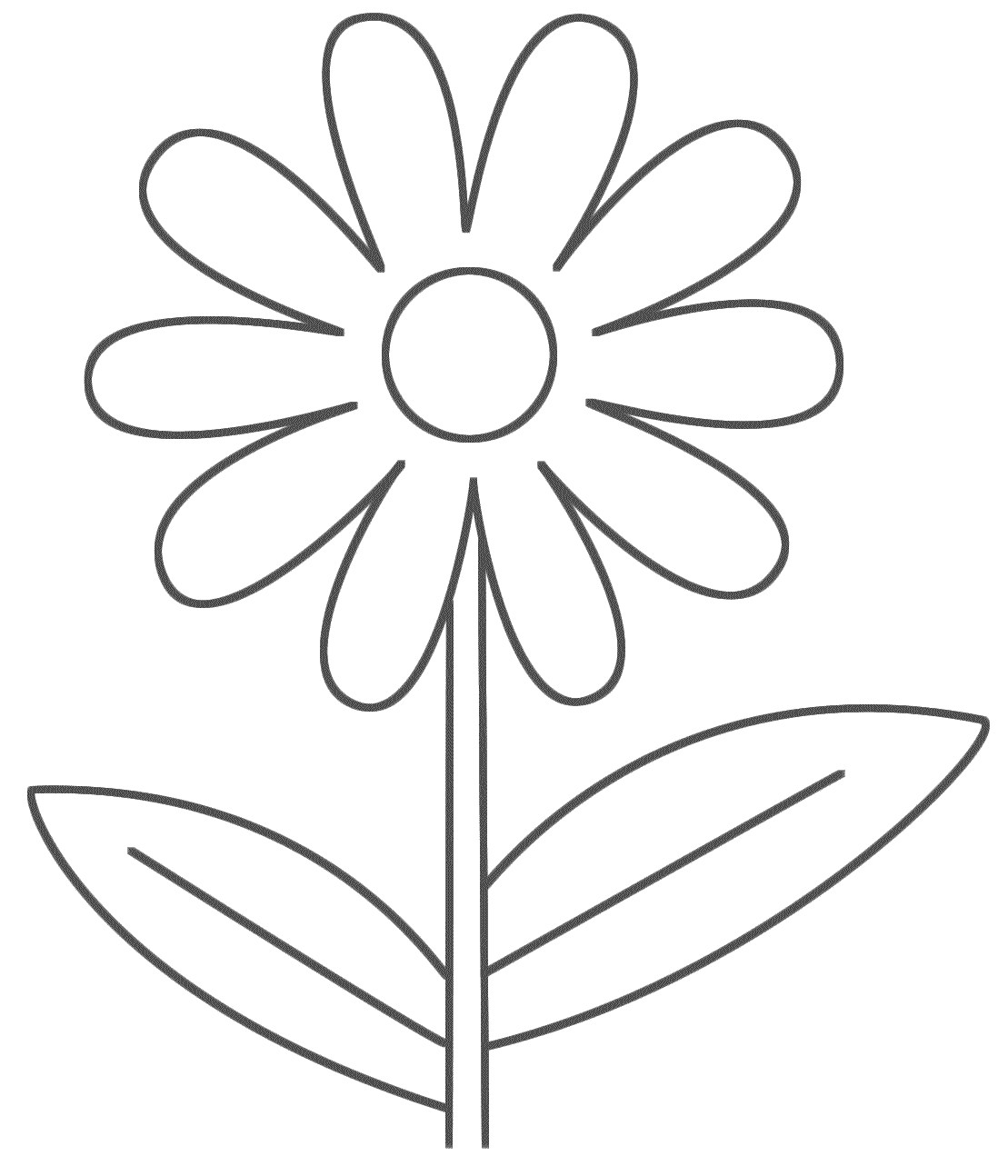Flowers Coloring Pages Free Printable Printable Flower Coloring Pages For Kids Coloring Pages For Children