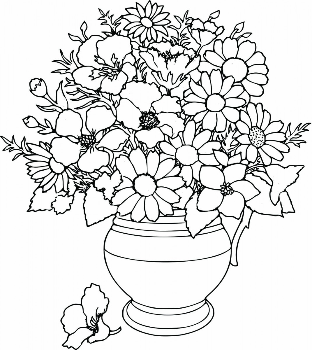 Flowers Coloring Pages Free Printable Simple Flower Coloring Pages Free Cute Printable Coloring Pages
