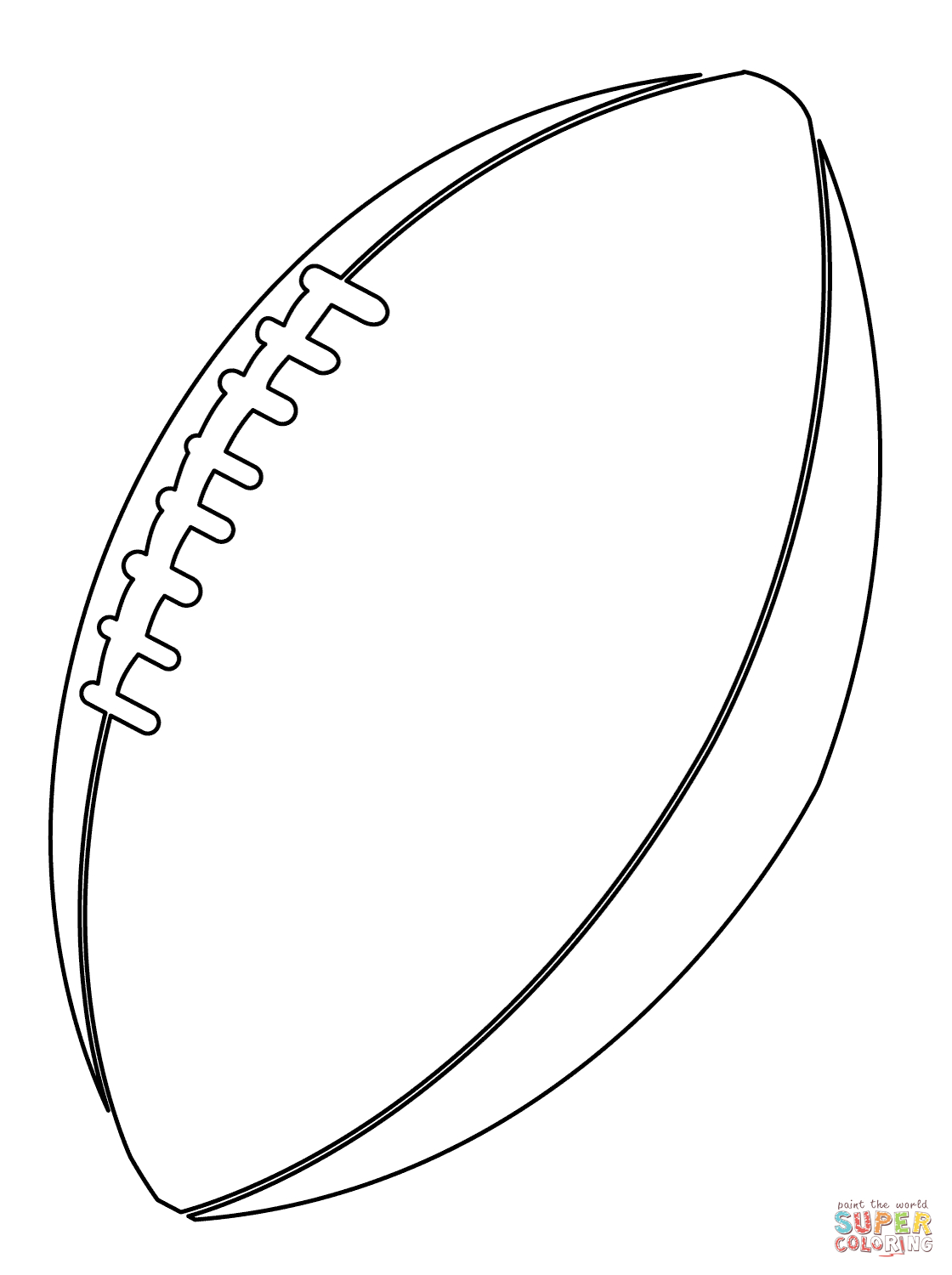 Football Color Pages American Football Ball Coloring Page Free Printable Coloring Pages
