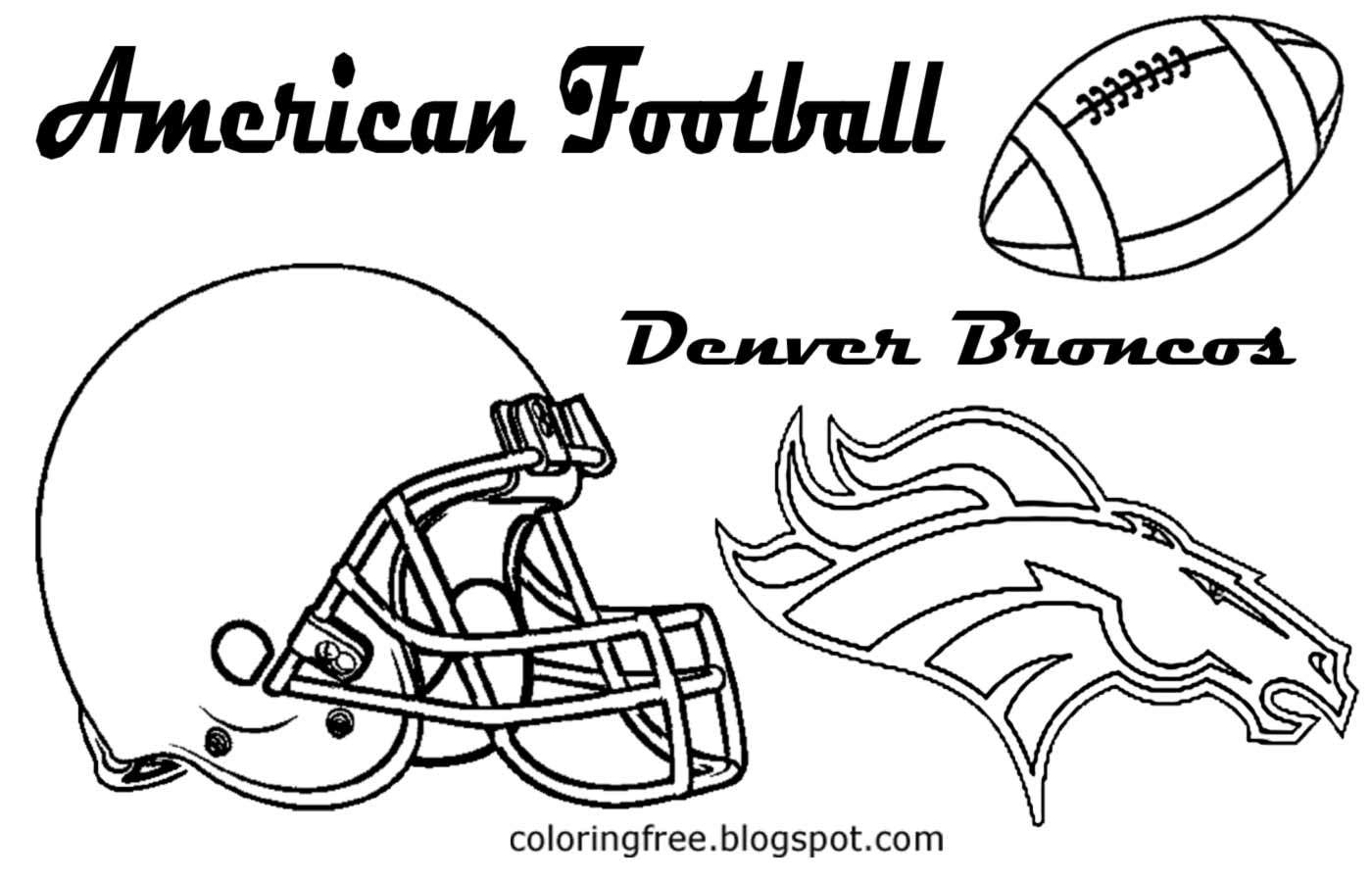 Football Color Pages Denver Broncos Football Coloring Pages 123 Coloring